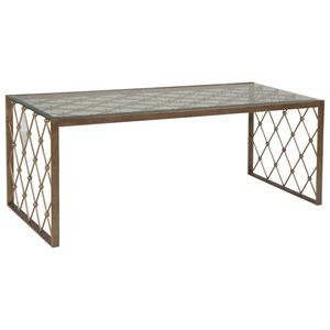 Artistica Artistica Metal Royere Rectangular Cocktail Table