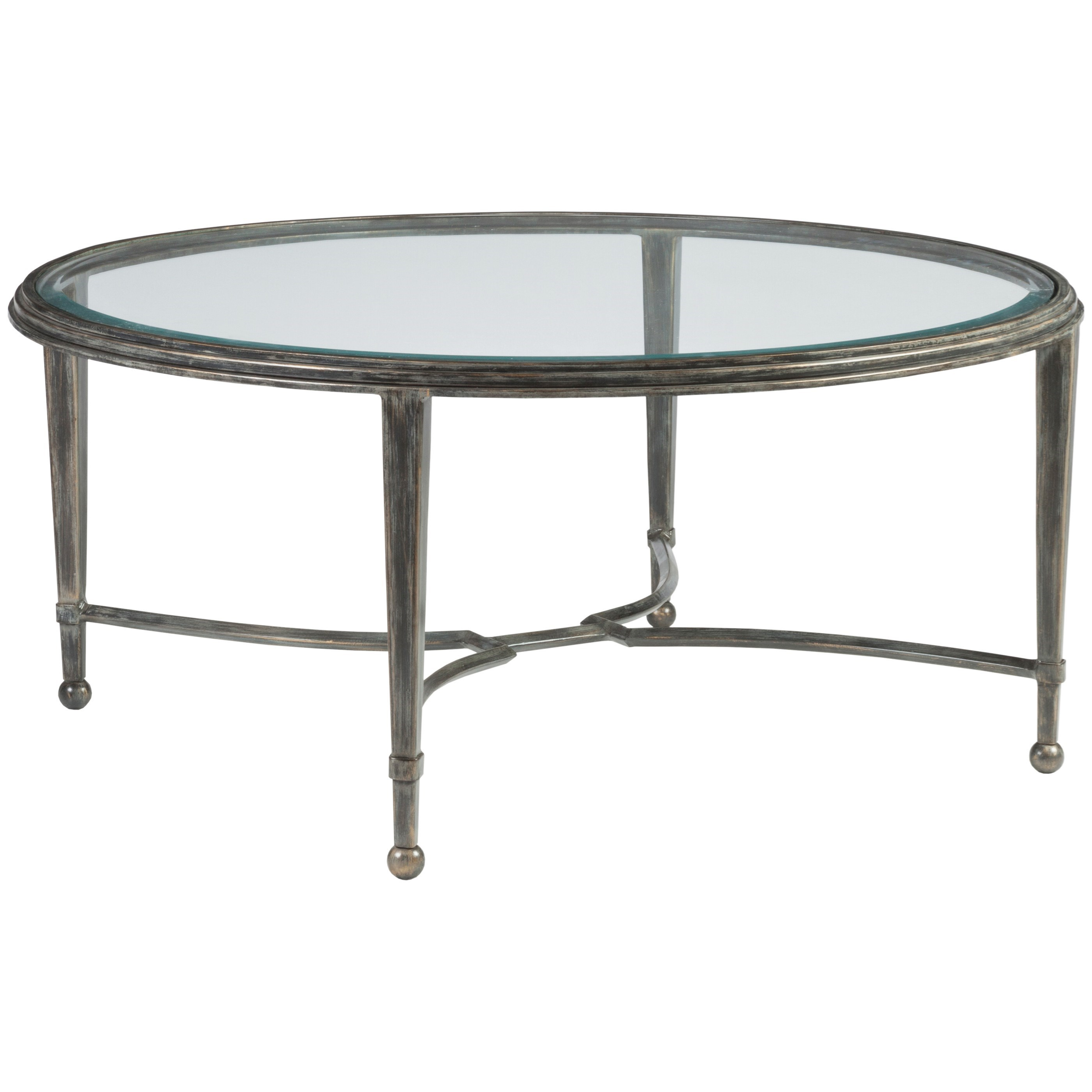Metal Designs Sangiovese Round Cocktail Table by Artistica at Baer's Furniture