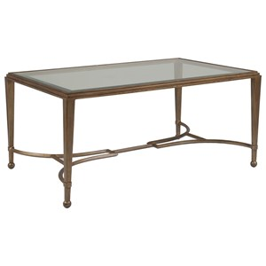 Artistica Artistica Metal Sangiovese Small Rectangular Cocktail Table