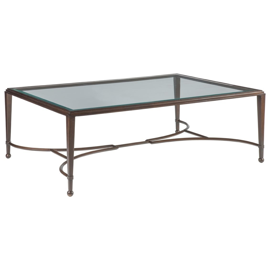 Metal Designs Sangiovese Large Rectangular Cocktail Table by Artistica at Sprintz Furniture