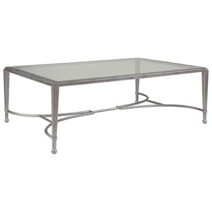 Artistica Artistica Metal Sangiovese Large Rectangular Cocktail Table
