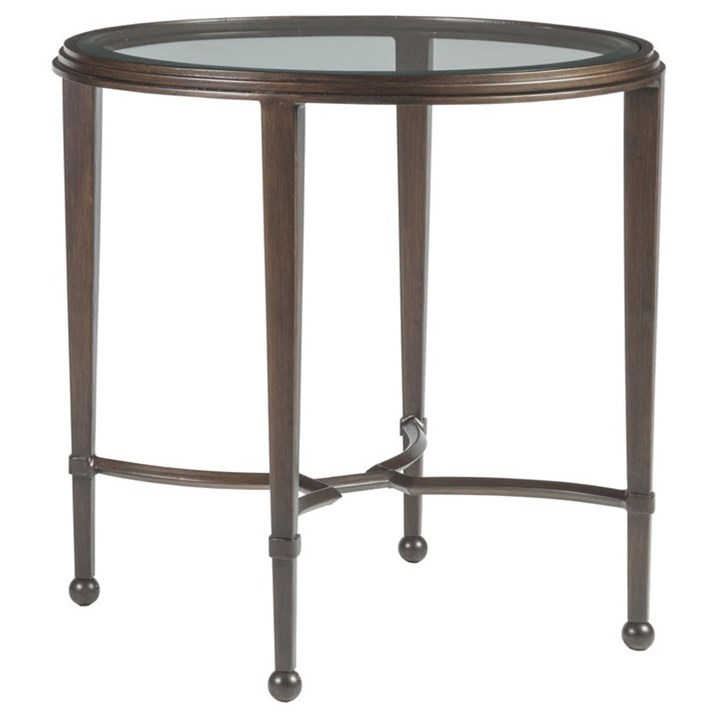 Metal Designs Sangiovese Round End Table by Artistica at Sprintz Furniture