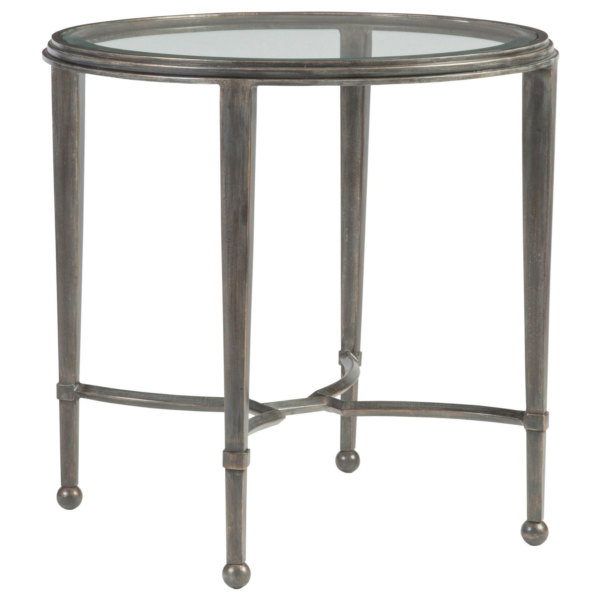 Metal Designs Sangiovese Round End Table by Artistica at Baer's Furniture