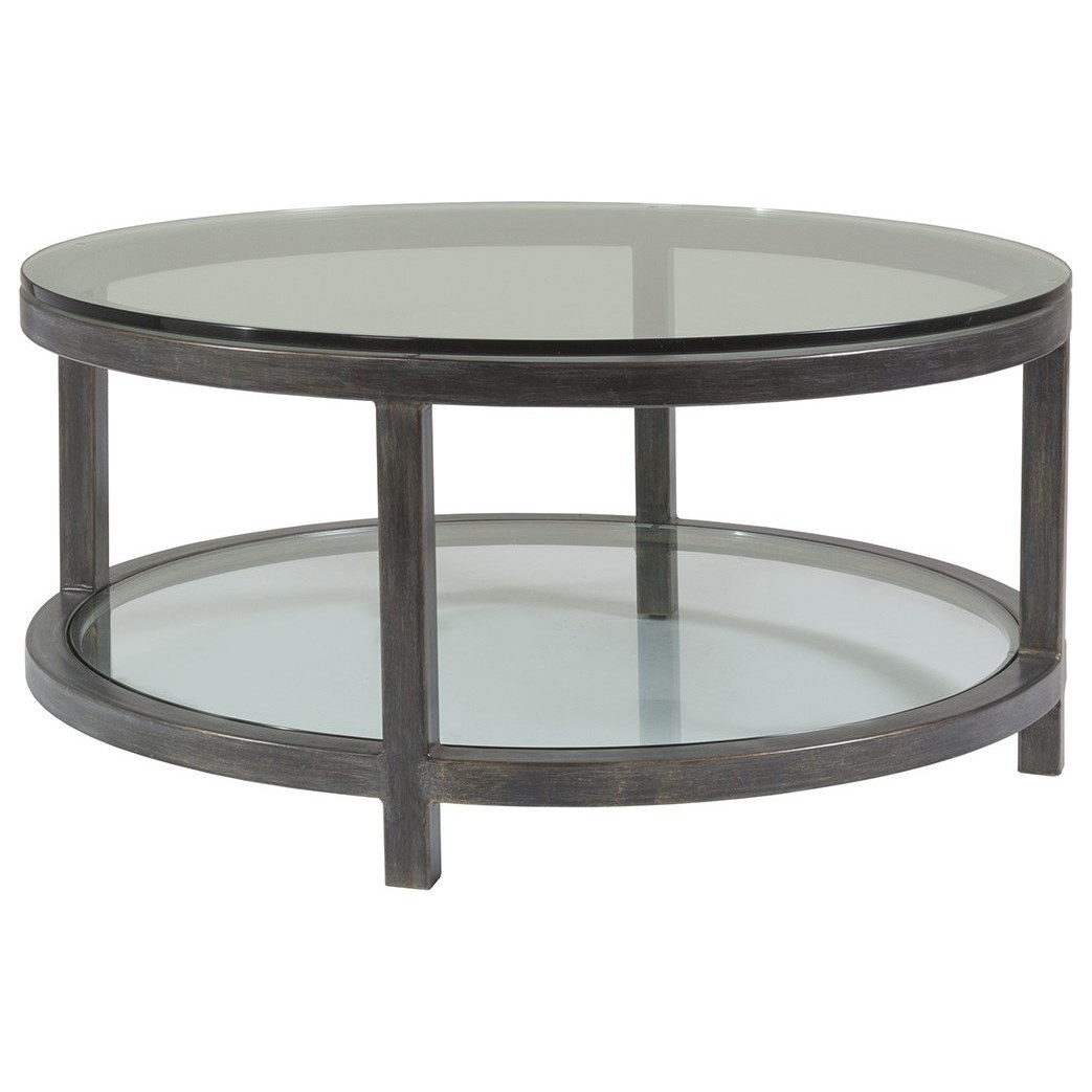 Metal Designs Per Se Round Cocktail Table by Artistica at Sprintz Furniture