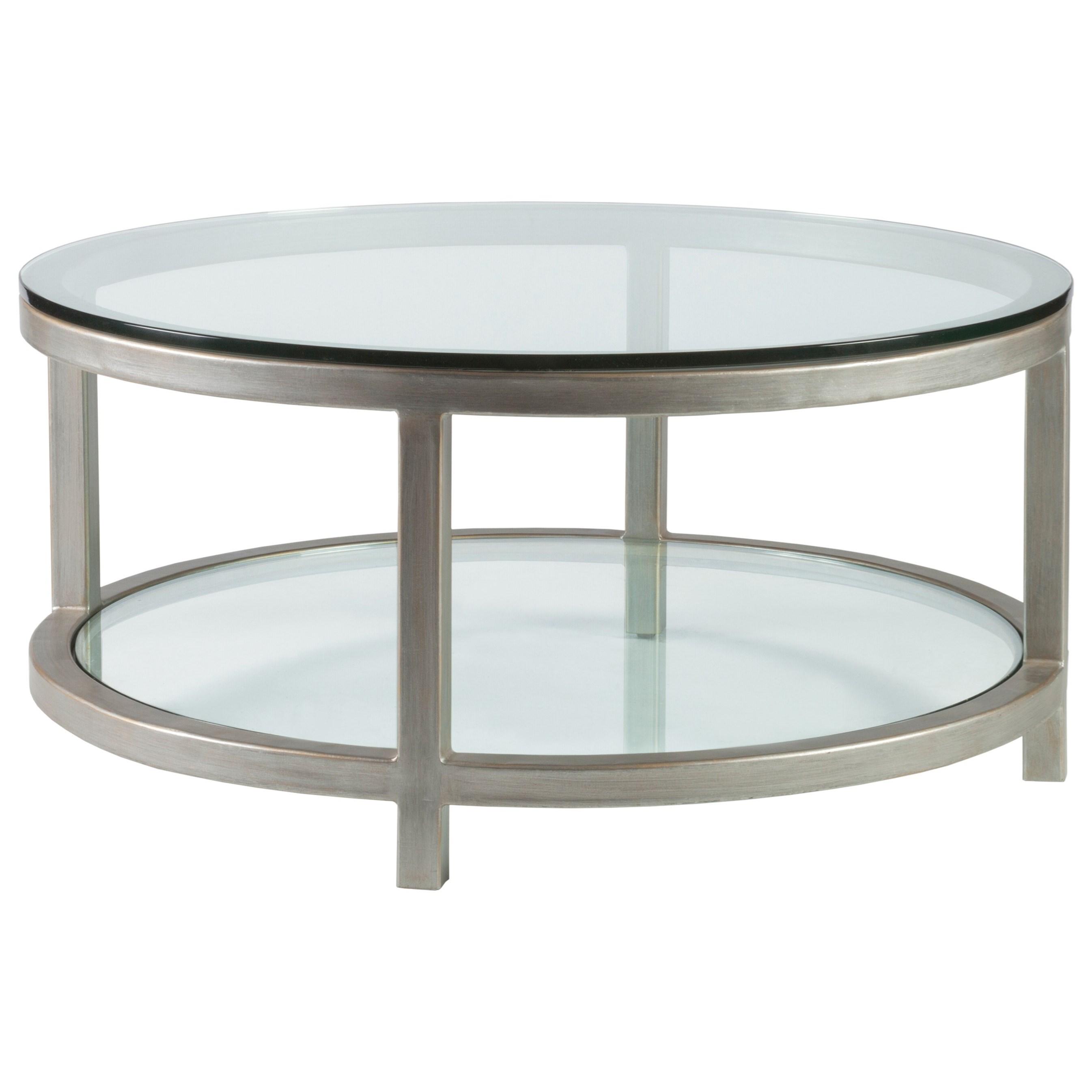 Metal Designs Per Se Round Cocktail Table by Artistica at Baer's Furniture