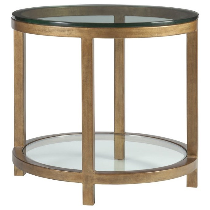 Metal Designs Per Se Round End Table by Artistica at Alison Craig Home Furnishings