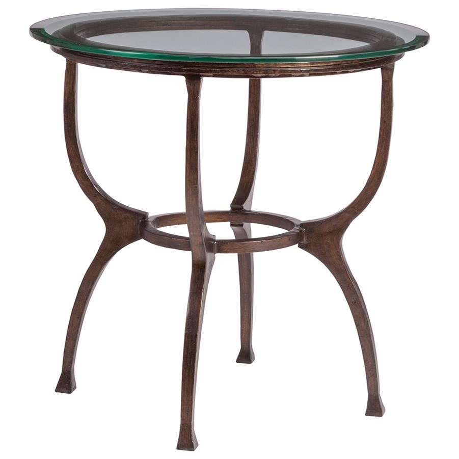 Metal Designs Patois Round End Table by Artistica at Sprintz Furniture