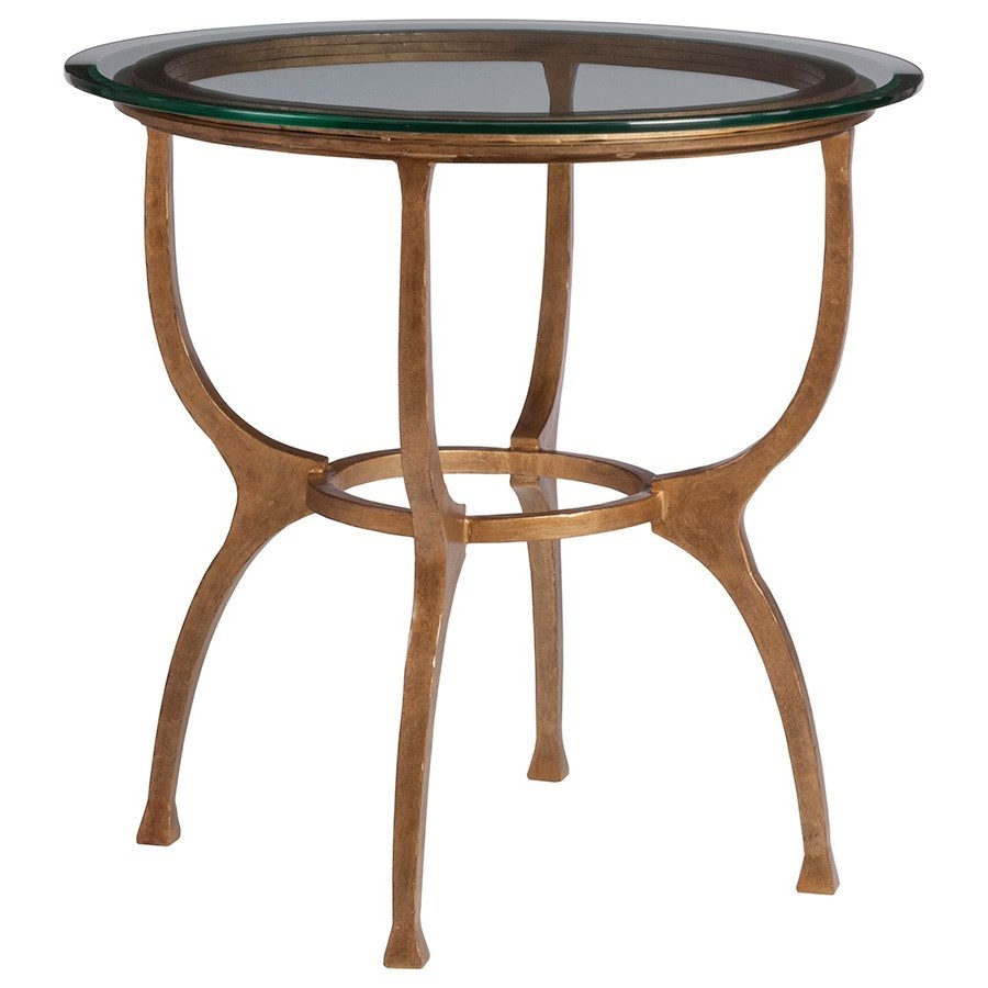 Metal Designs Patois Round End Table by Artistica at Baer's Furniture