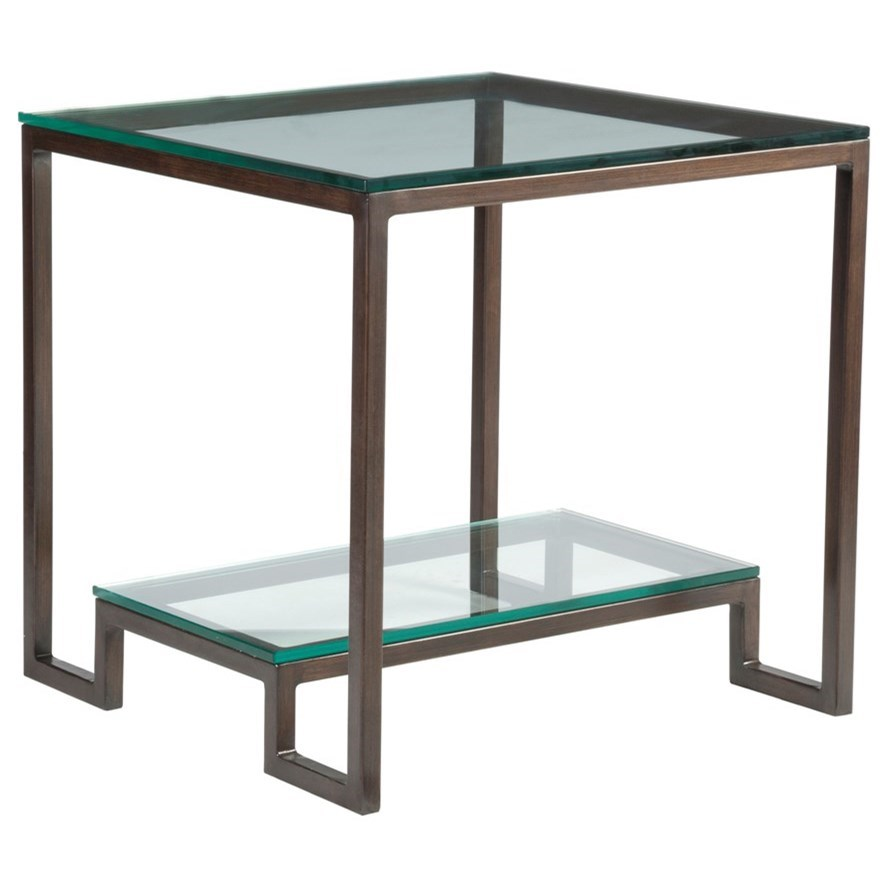 Metal Designs Bonaire Square End Table by Artistica at Sprintz Furniture