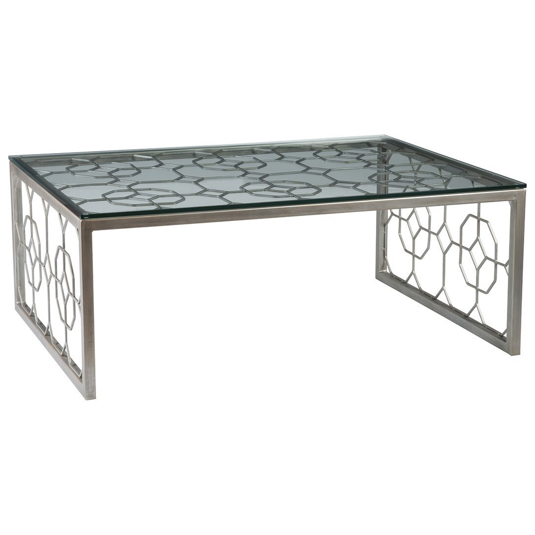 Artistica Metal Honeycomb Rectangular Cocktail Table by Artistica at Baer's Furniture