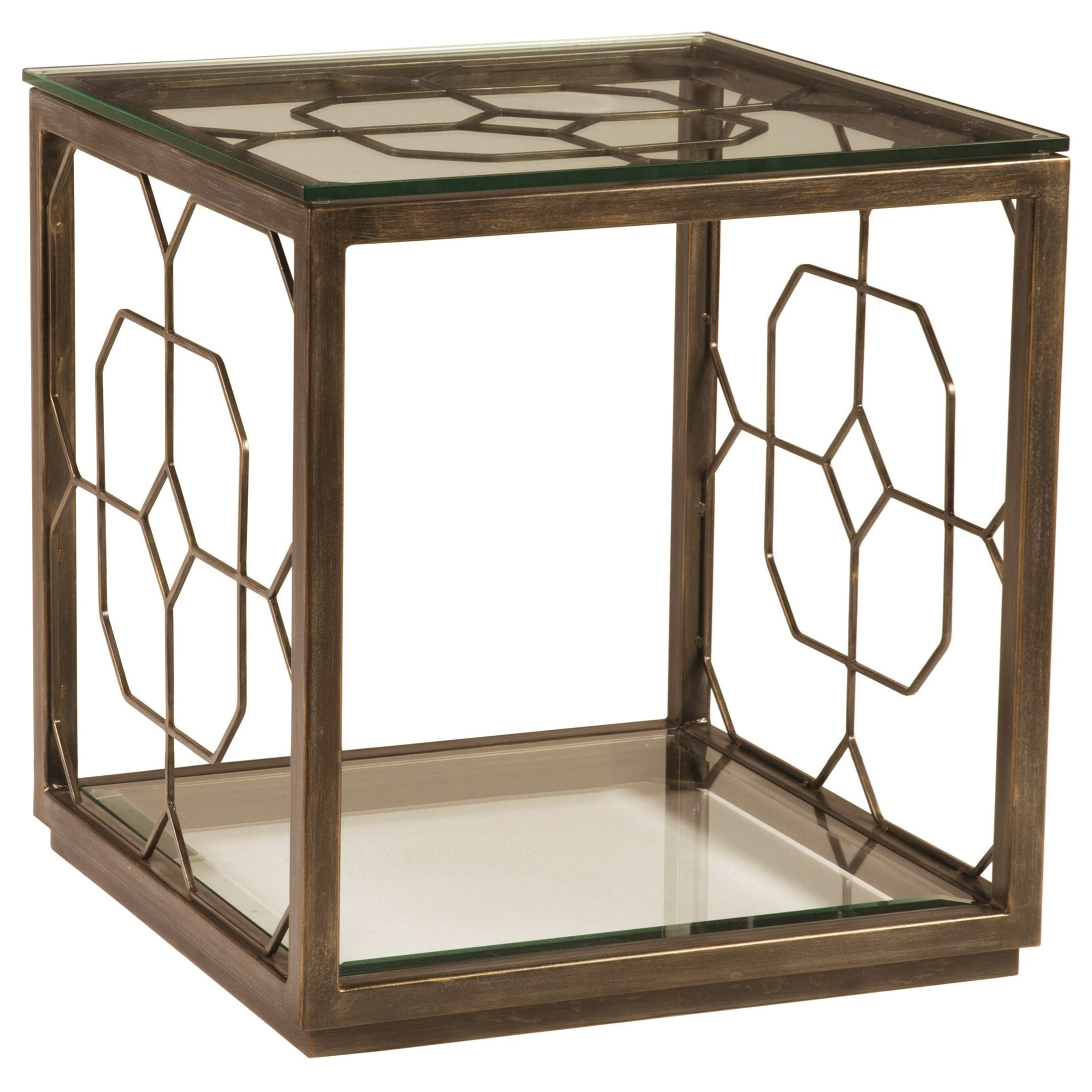 Metal Designs Honeycomb Square End Table by Artistica at Baer's Furniture