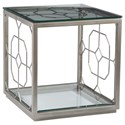 Artistica Artistica Metal Honeycomb Square End Table - Item Number: 2056-957-46