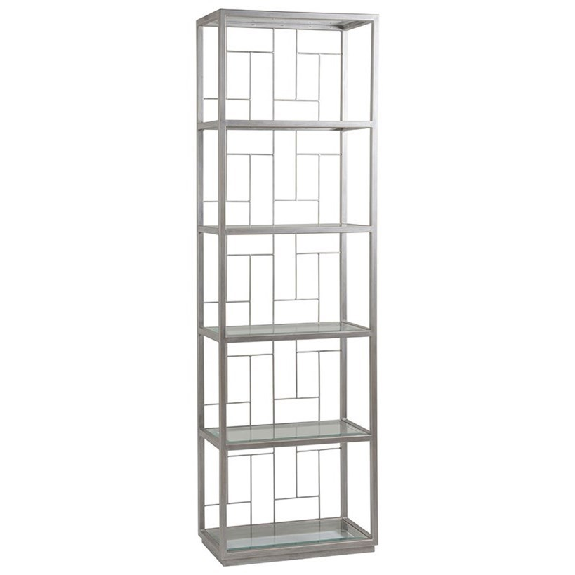 Artistica Metal Honeycomb Mid Geo Slim Etagere by Artistica at Baer's Furniture