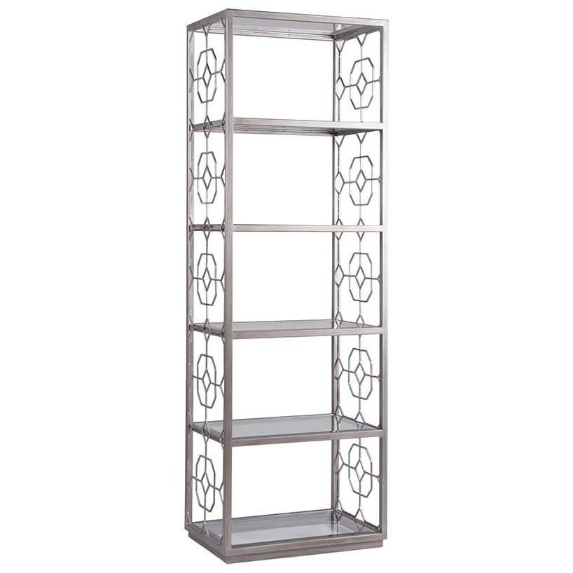 Artistica Metal Honeycomb Slim Etagere by Artistica at Sprintz Furniture