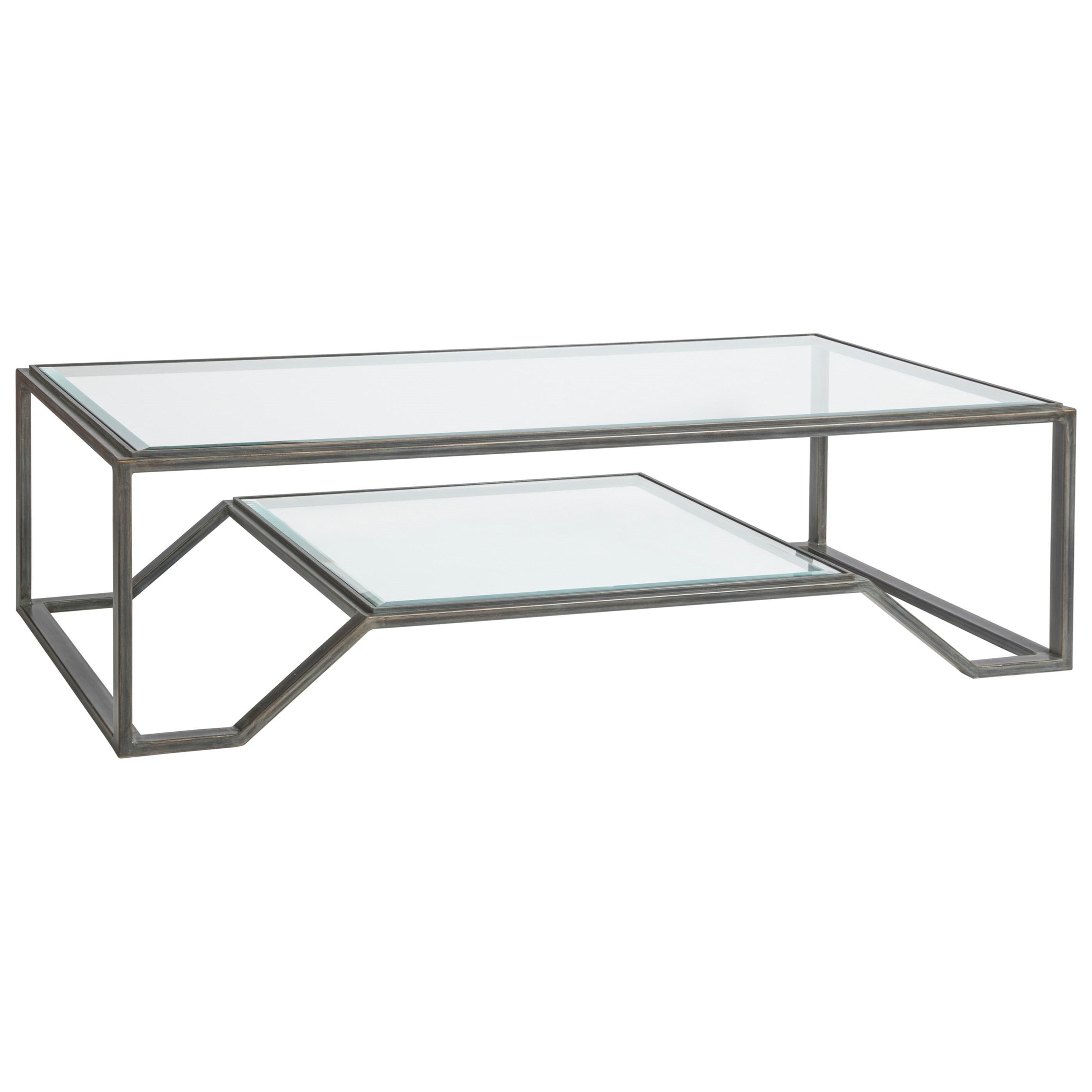 Metal Designs Byron Rectangular Cocktail Table by Artistica at Sprintz Furniture