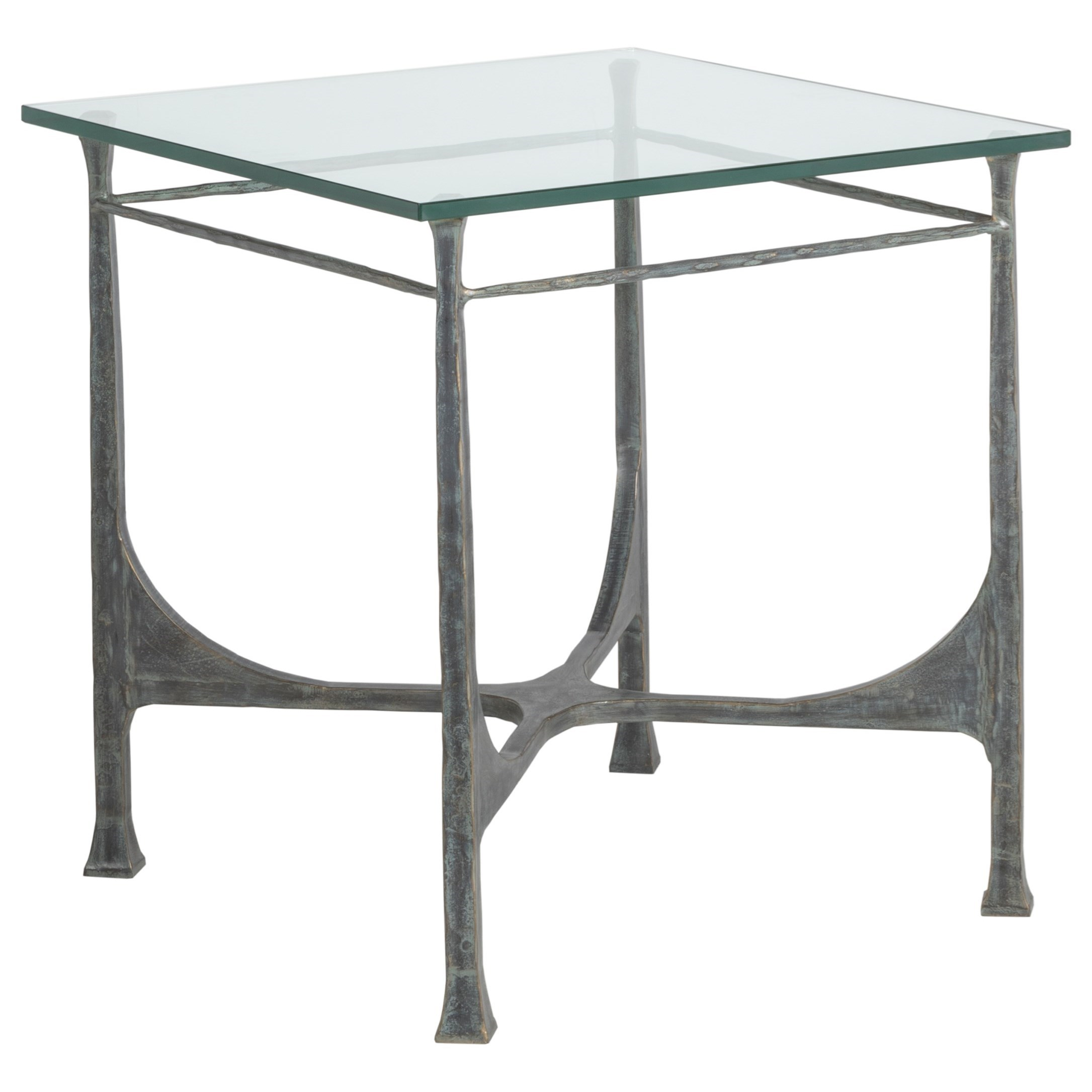 Metal Designs Bruno Square End Table by Artistica at Baer's Furniture