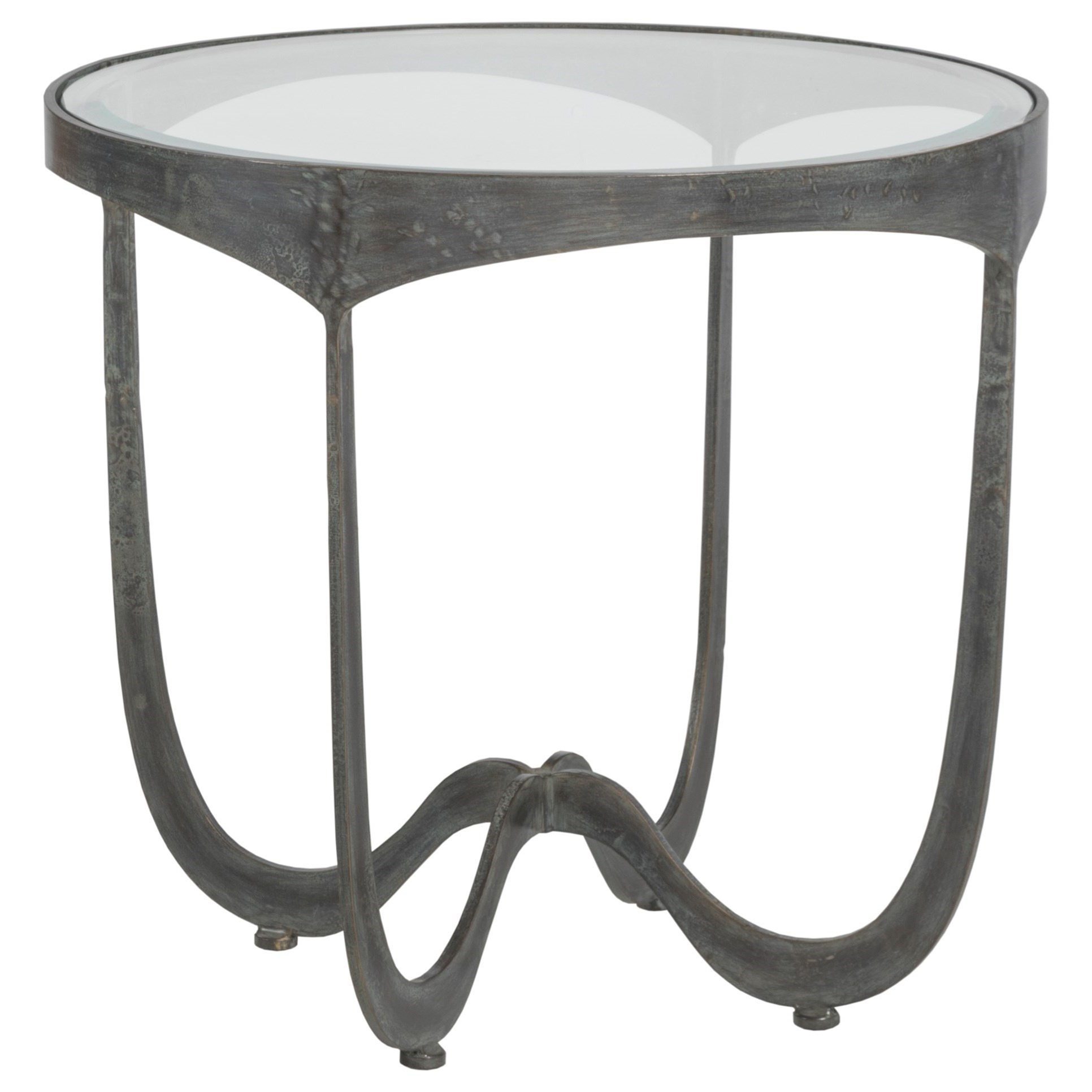 Metal Designs Sophie Round End Table by Artistica at Sprintz Furniture