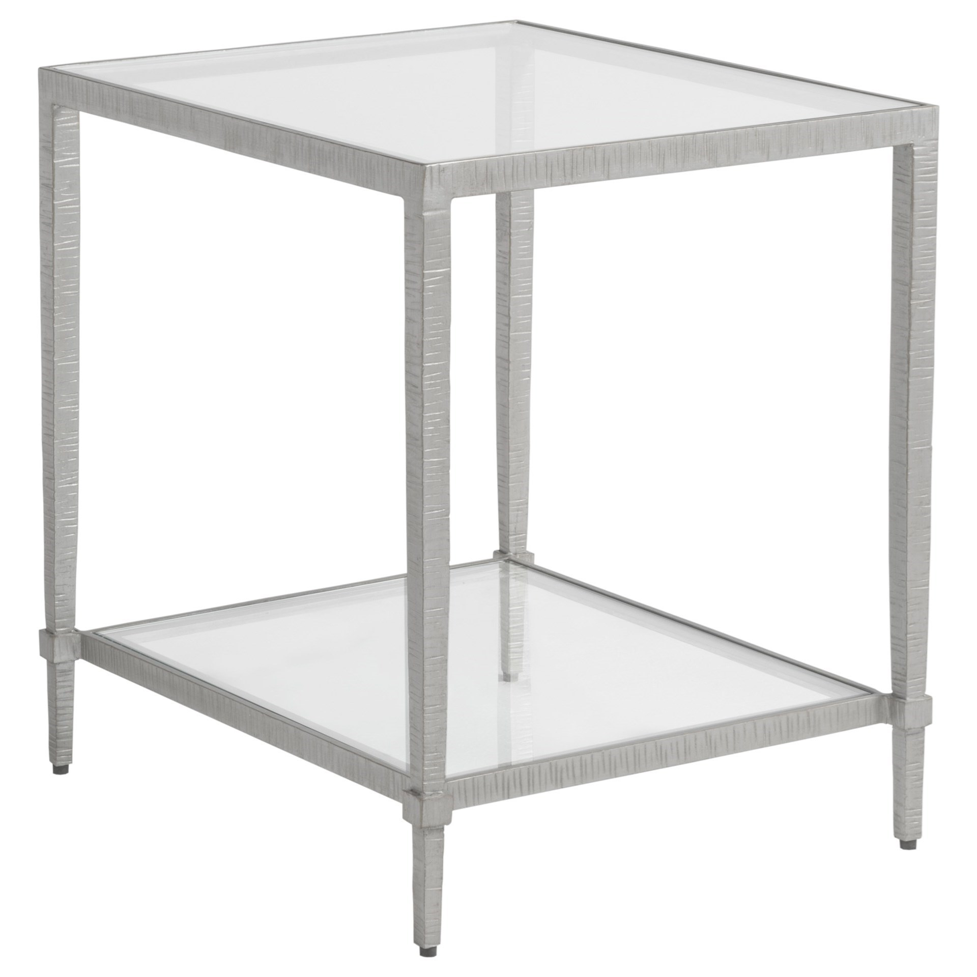 Metal Designs Claret Rectangular End Table by Artistica at Baer's Furniture