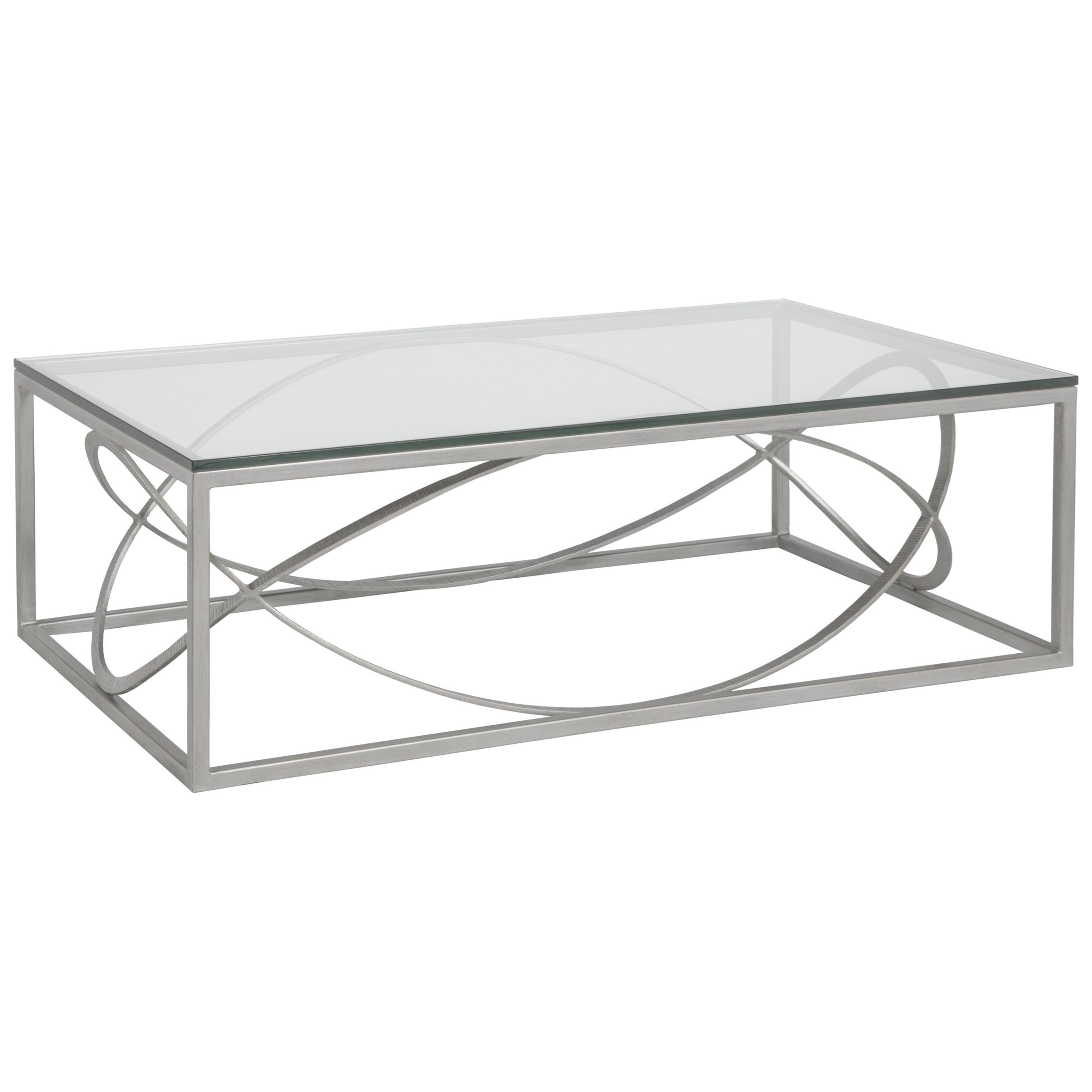 Metal Designs Ellipse Rectangular Cocktail Table by Artistica at Baer's Furniture