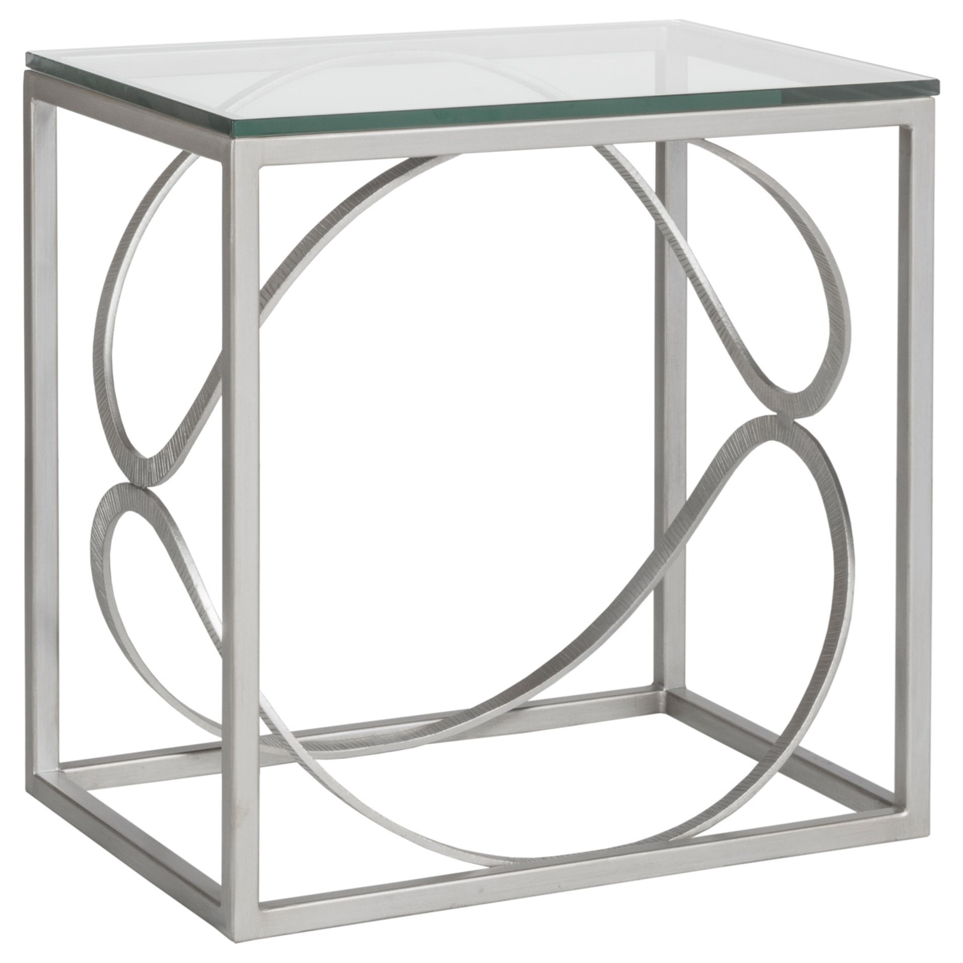 Metal Designs Ellipse Rectangular End Table by Artistica at Alison Craig Home Furnishings