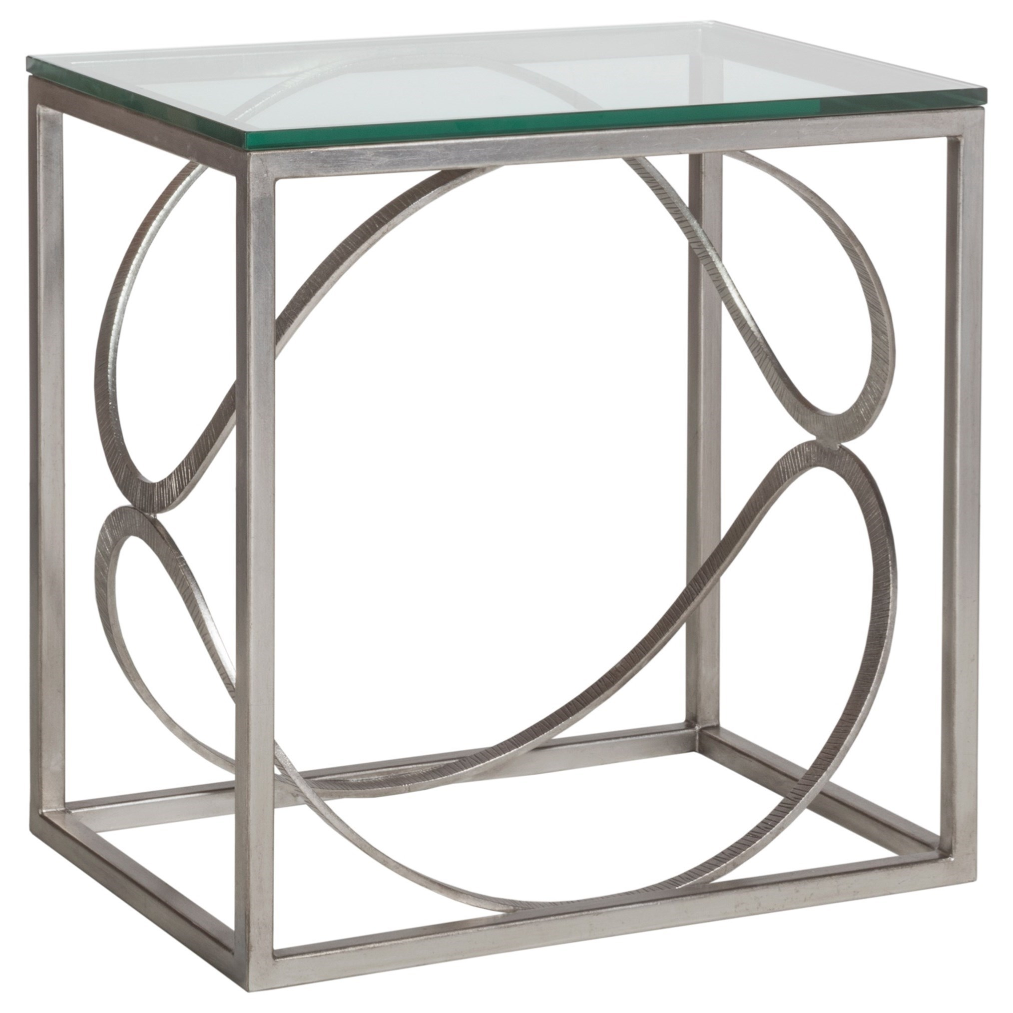 Metal Designs Ellipse Rectangular End Table by Artistica at Baer's Furniture