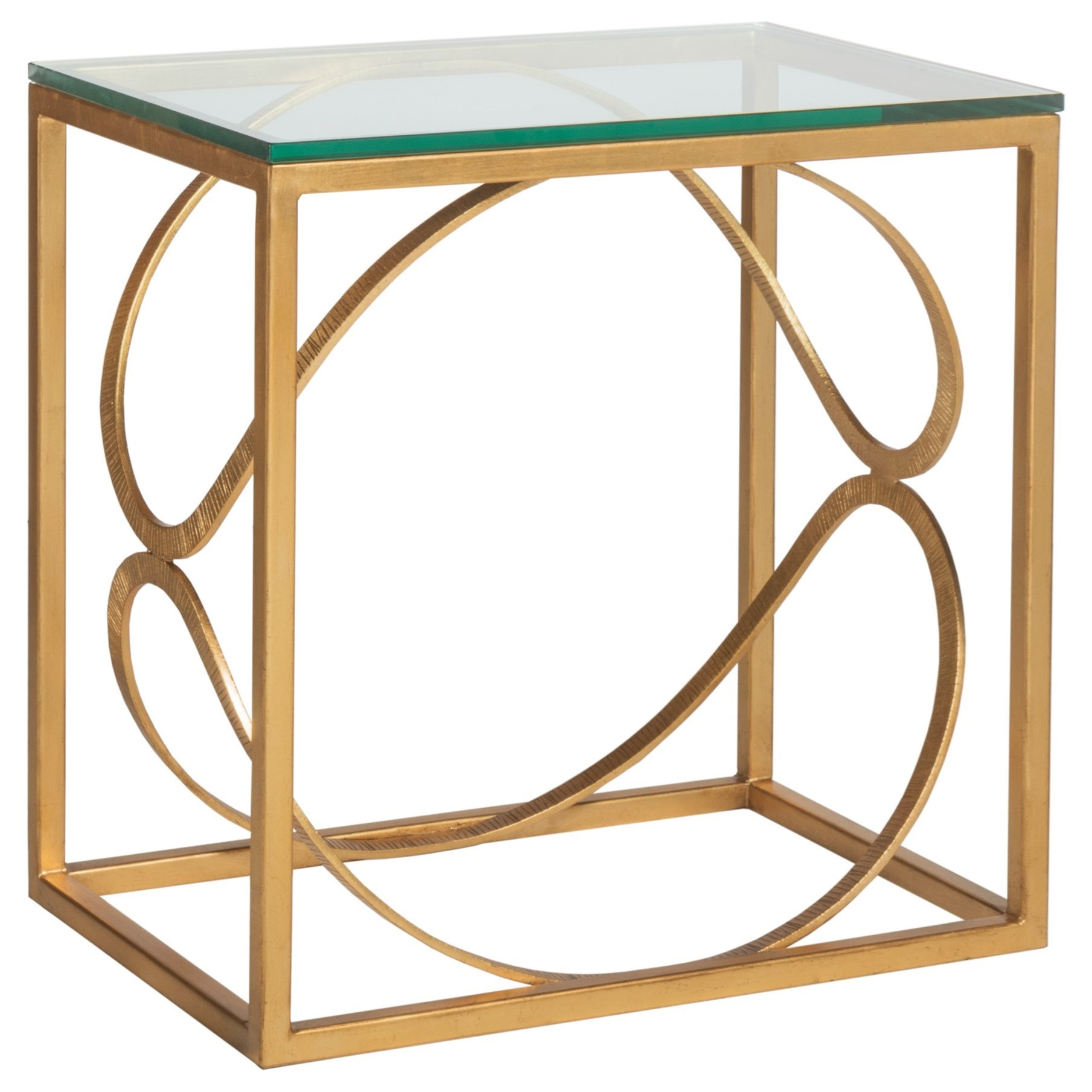 Metal Designs Ellipse Rectangular End Table by Artistica at Baer's Furniture