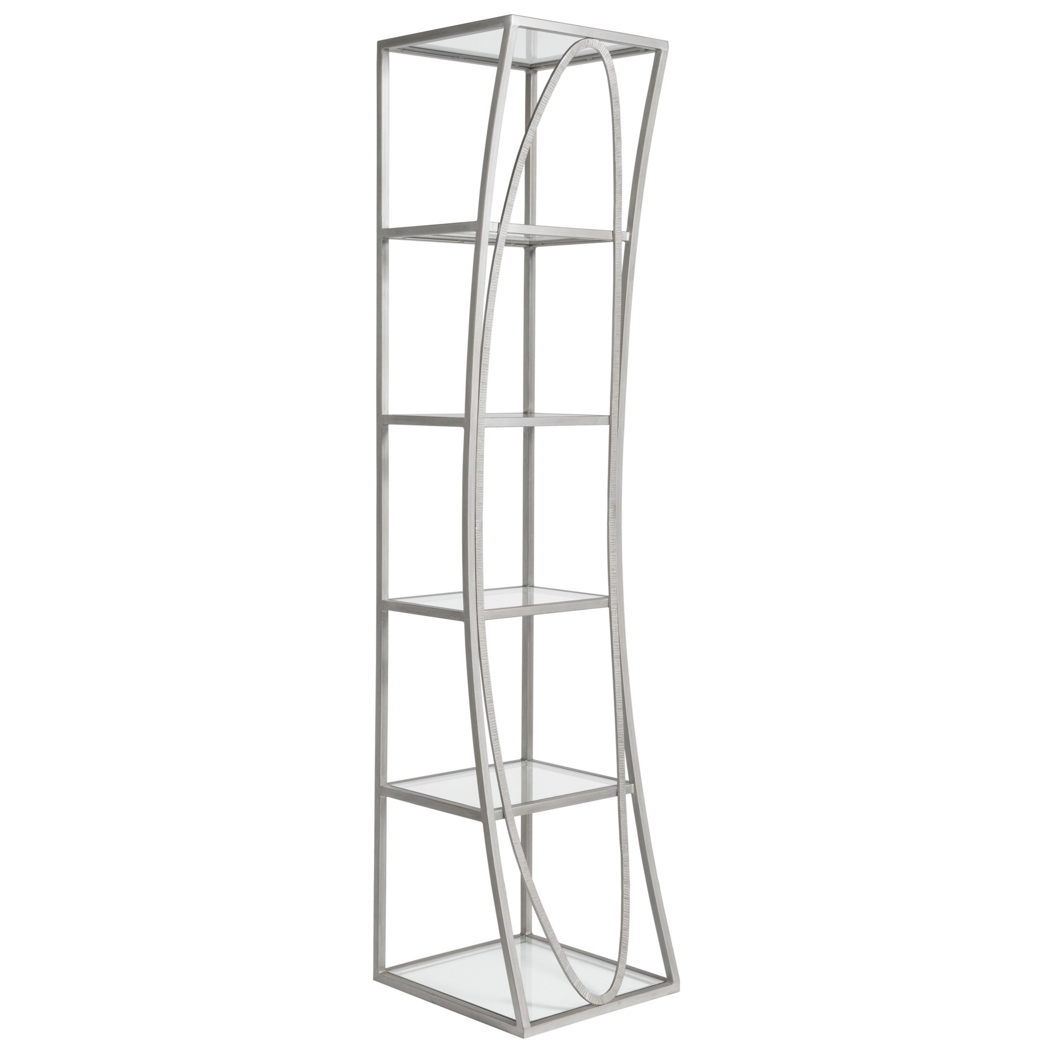 Metal Designs Ellipse Slim Etagere by Artistica at Baer's Furniture