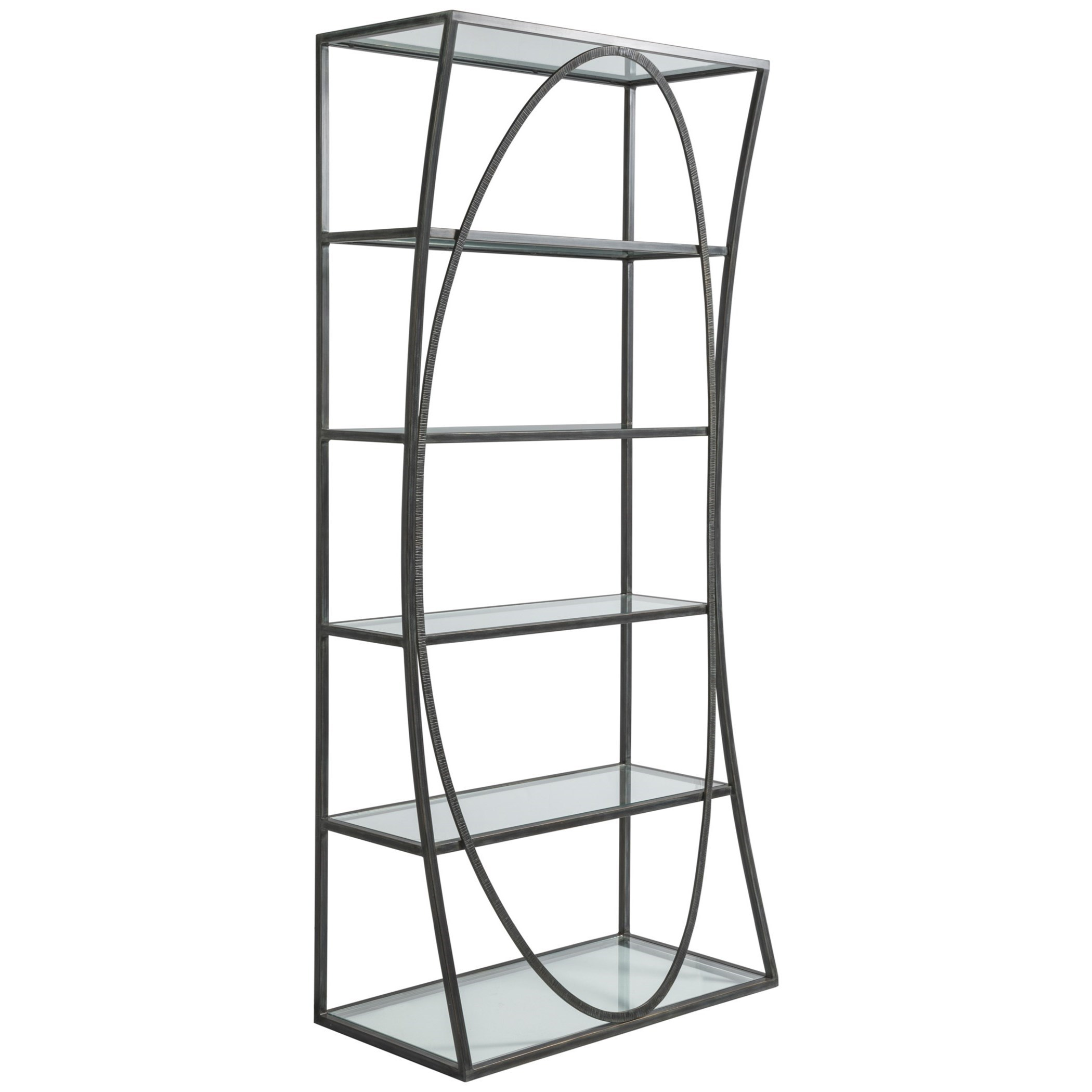 Metal Designs Ellipse Etagere by Artistica at Sprintz Furniture