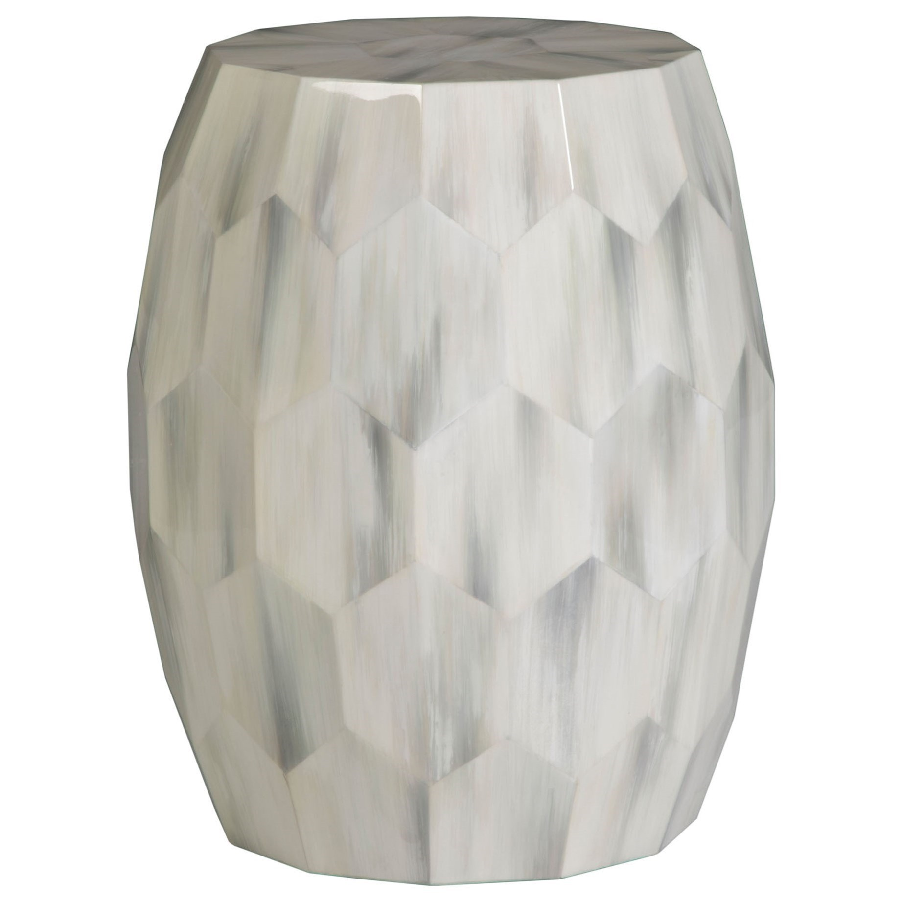Bello Faceted Drum Table by Artistica at Baer's Furniture