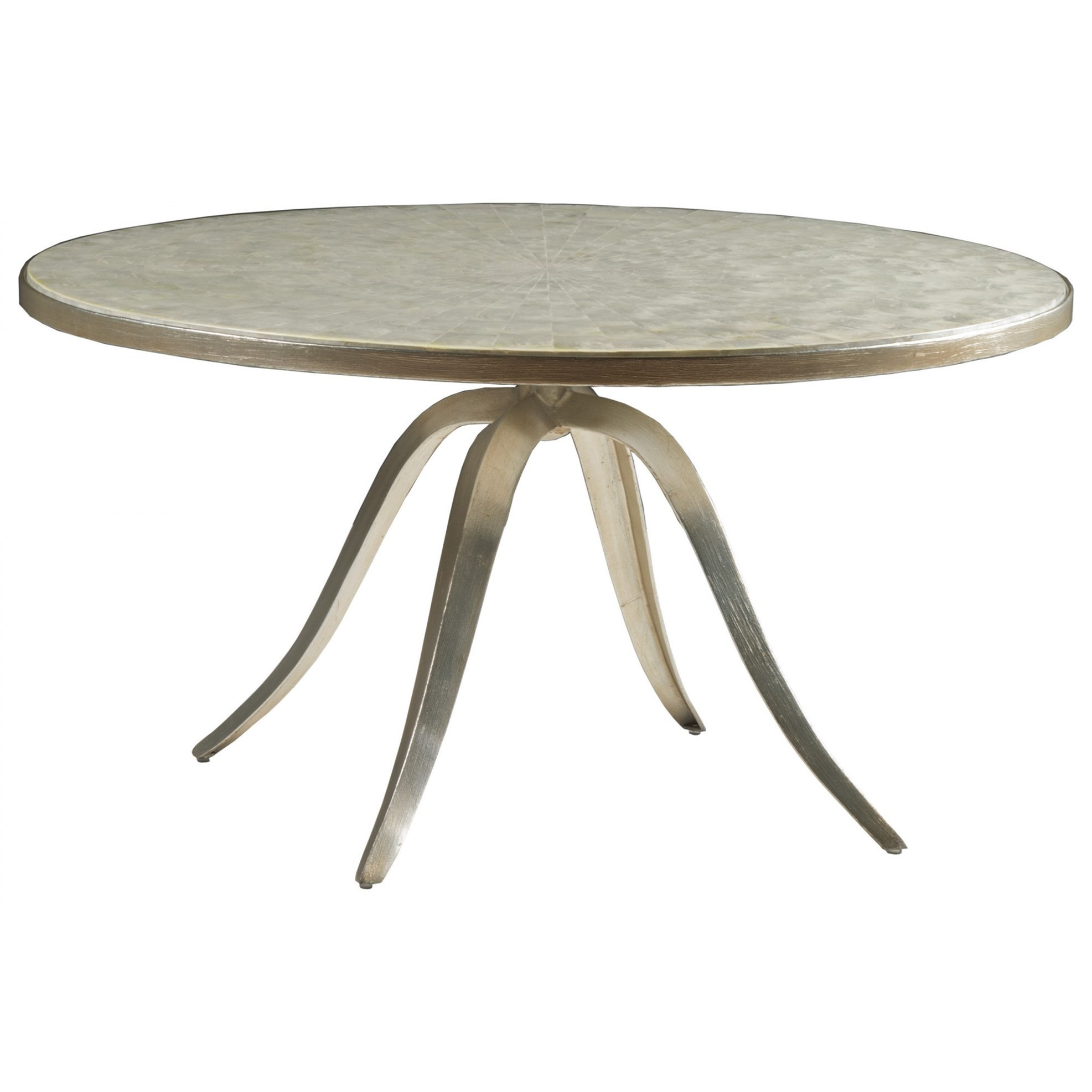 Capiz Round Cocktail Table by Artistica at Baer's Furniture