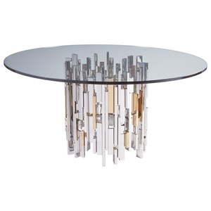 Artistica Cityscape Cityscape Round Dining Table With Glass Top