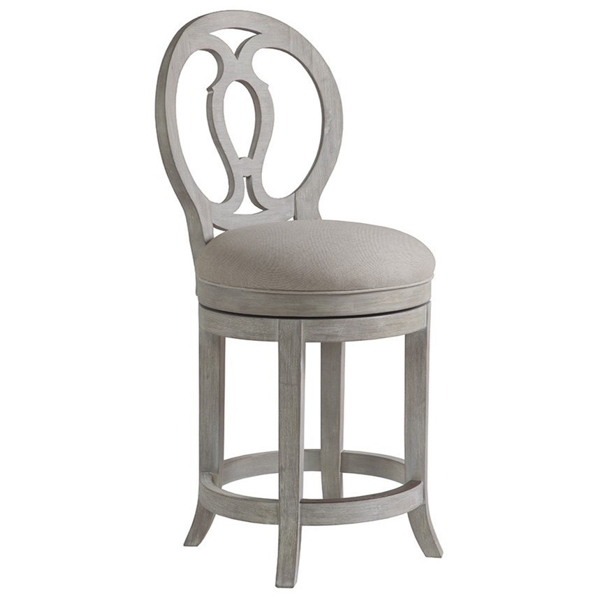Artistica Cohesion Axiom Oval Back Swivel Counter Stool