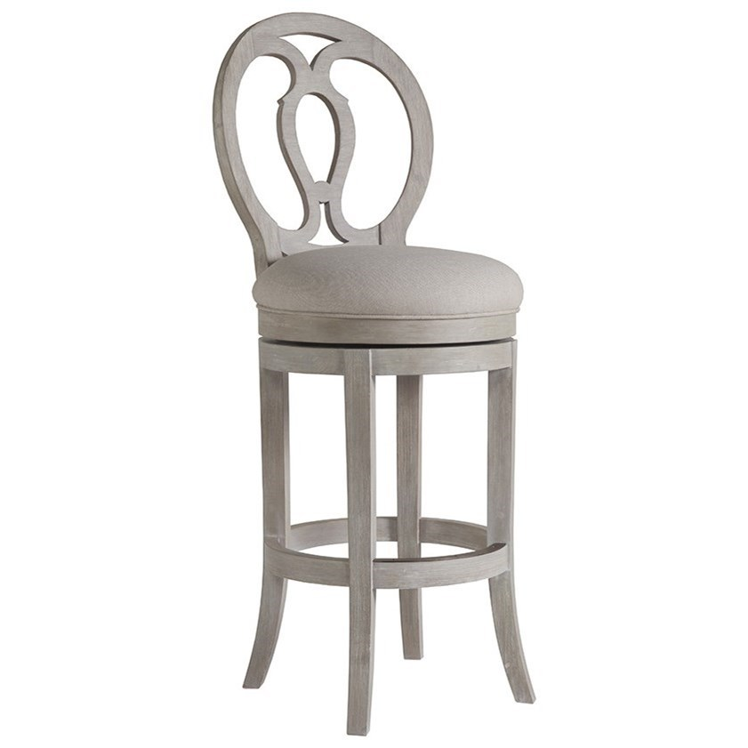 Artistica Cohesion Axiom Oval Back Swivel Barstool With