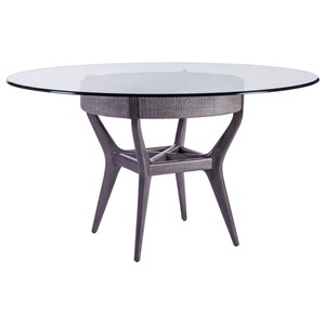"56"" Round Glass Dining Table"