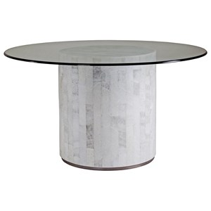 Round Dining Table with Glass Top