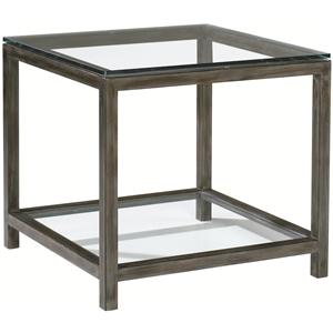 Delicieux Artistica Per Se Square Metal U0026 Beveled Glass End Table With One Shelf