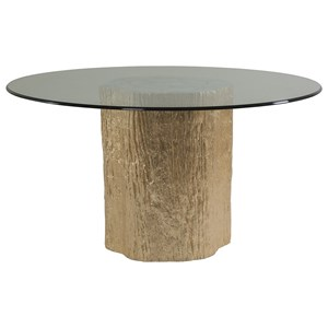 Artistica Trunk Segment Trunk Segment Round Dining Table With Glass
