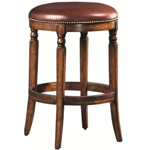Artistica Winston Backless Leather Stool