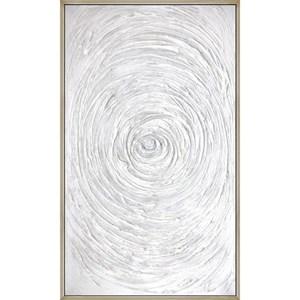 Abstract Wall Art w/ Laguna Silver Frame
