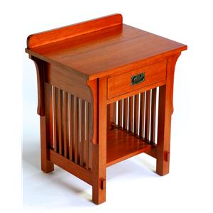 Arts & Crafts Industries Mission  1 Drawer Night Stand