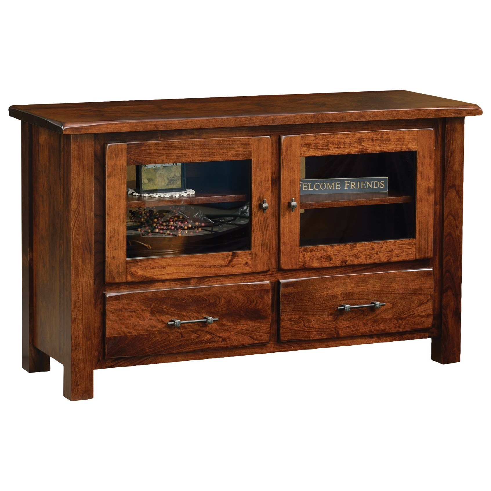 """Barn Floor 50"""" TV Stand by Ashery Oak at Saugerties Furniture Mart"""