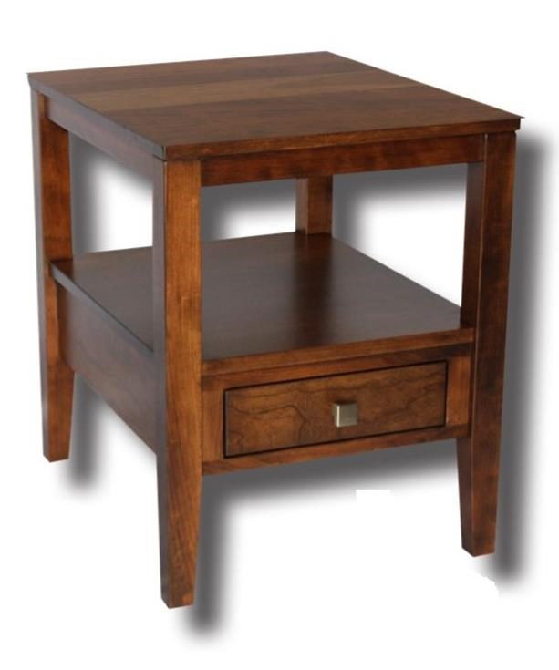 Century Style Customizable Solid Wood End Table by Ashery Woodworking at Saugerties Furniture Mart