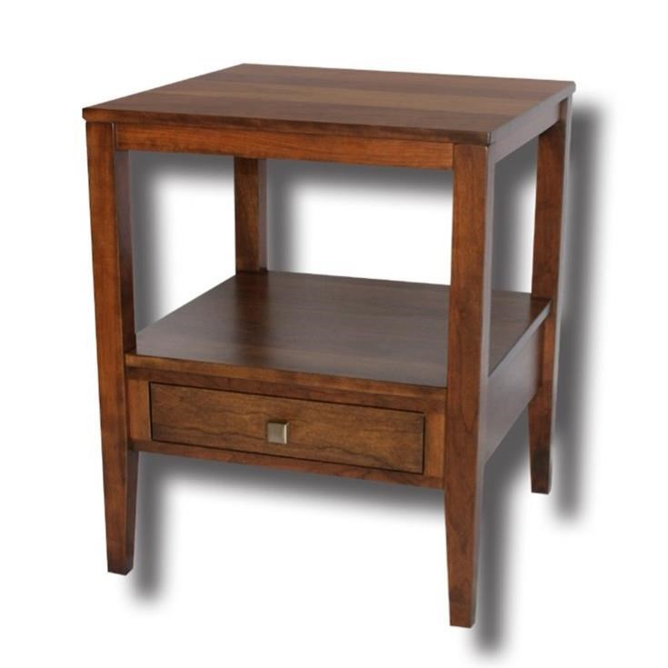Century Style Customizable Solid Wood Lamp Table by Ashery Woodworking at Saugerties Furniture Mart