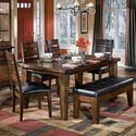 Signature Design by Ashley Larchmont Dining Table, 4 Chairs, and 1 Bench - Item Number: D442-25+01+00