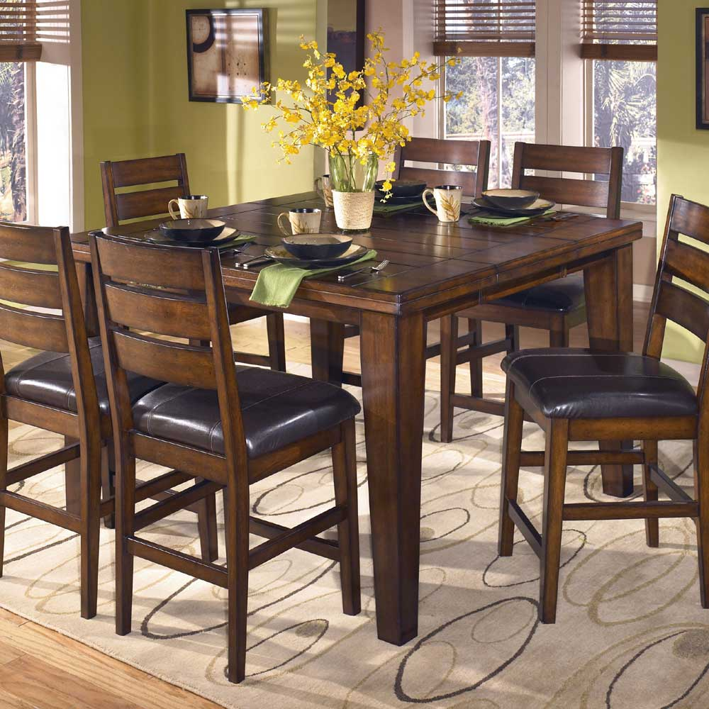 Signature Design By Ashley Larchmont D442 32 Butterfly Leaf Pub Table Furniture And