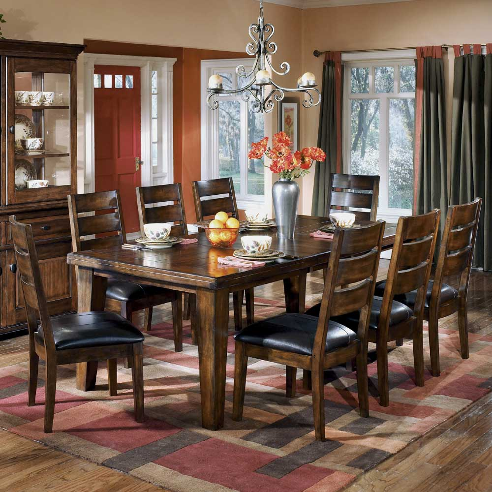 Signature Design by Ashley Larchmont Extension Table and Chairs - Item Number: D442-45+01