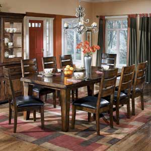 Signature Design by Ashley Furniture Larchmont Extension Table and Chairs