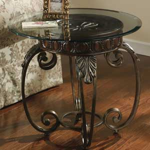 Signature Design by Ashley Tullio Metal Round End Table