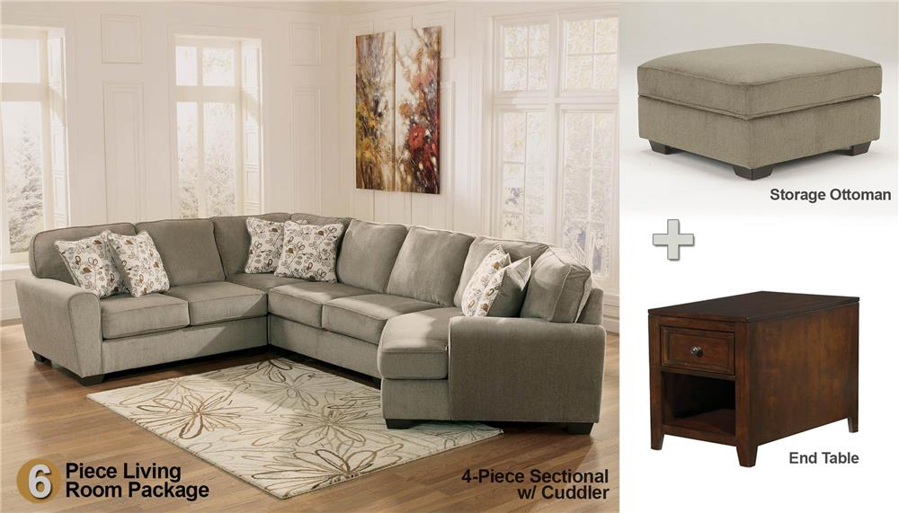 patina 6-piece sectional living room set - rotmans - upholstery