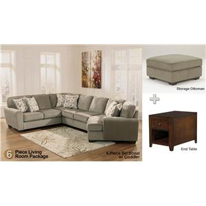 Ashley Furniture Patina 6-Piece Sectional Living Room Set